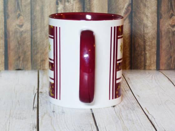 Lustiger Glühweinbecher mit Henkel aus Keramik
